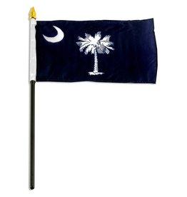 """Online Stores Stick Flag 4""""x6"""" - South Carolina"""