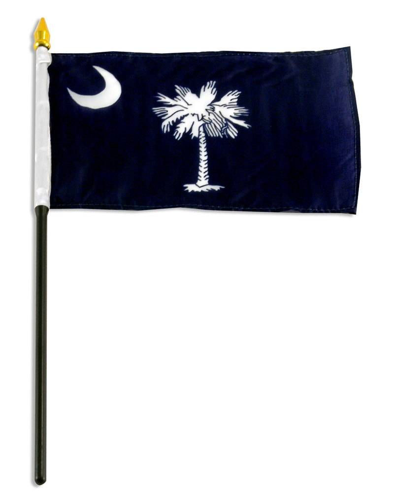 "Online Stores Stick Flag 4""x6"" - South Carolina"