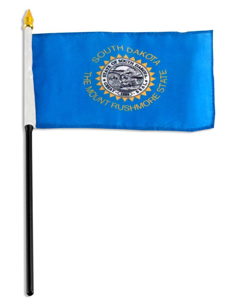 "Online Stores Stick Flag 4""x6"" - South Dakota"