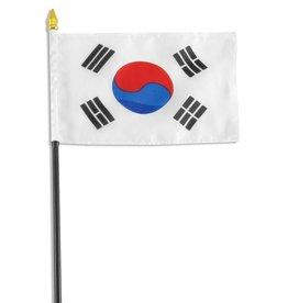 """Online Stores Stick Flag 4""""x6"""" - South Korea"""