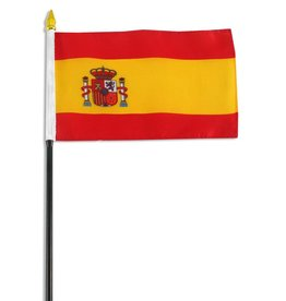 "Online Stores Stick Flag 4""x6"" - Spain"