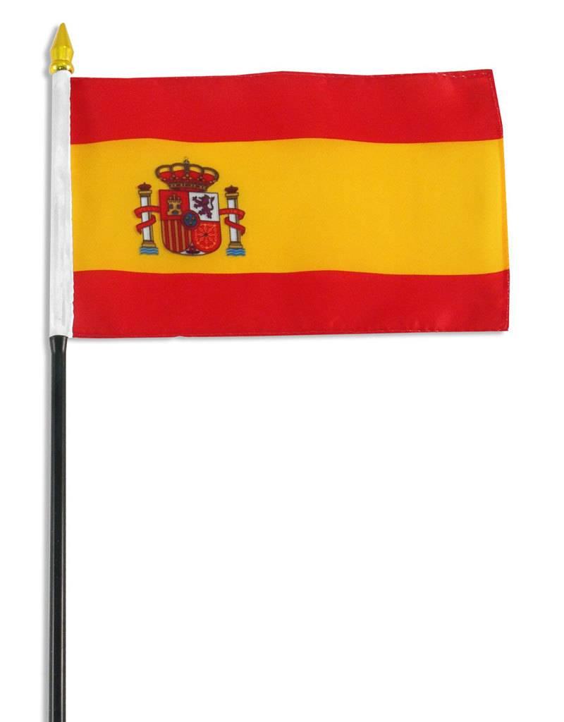 "Online Stores Stick Flag 4""x6"" - Spain"