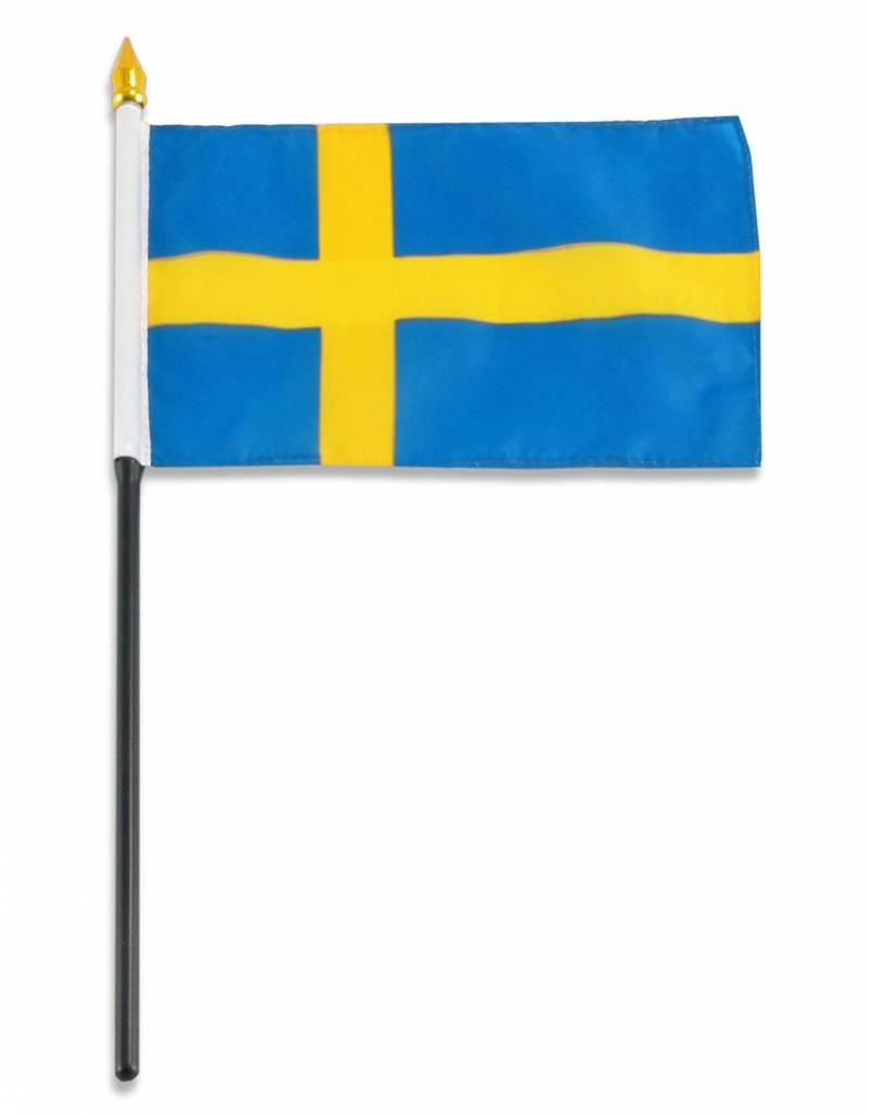 "Online Stores Stick Flag 4""x6"" - Sweden"