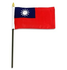 """Online Stores Stick Flag 4""""x6"""" - Taiwan"""