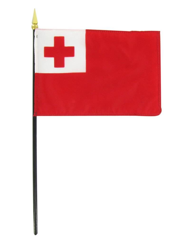 "Online Stores Stick Flag 4""x6"" - Tonga"
