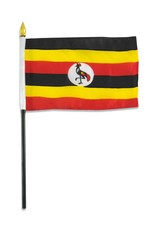 "Online Stores Stick Flag 4""x6"" - Uganda"