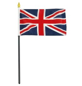 "Online Stores Stick Flag 4""x6"" - United Kingdom"