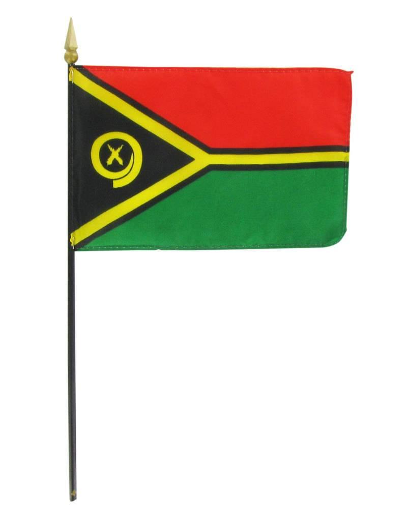 "Online Stores Stick Flag 4""x6"" - Vanuatu"