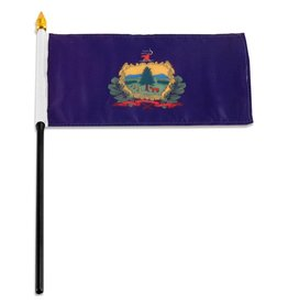 """Online Stores Stick Flag 4""""x6"""" - Vermont"""