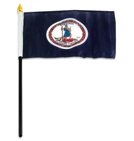 "Online Stores Stick Flag 4""x6"" - Virginia"