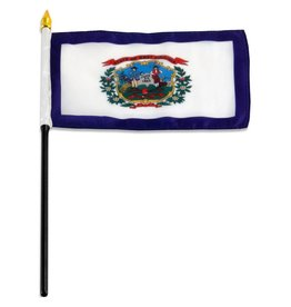 "Online Stores Stick Flag 4""x6"" - West Virginia"