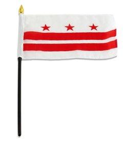 "Online Stores Stick Flag 4""x6"" - Washington DC"
