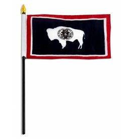 """Online Stores Stick Flag 4""""x6"""" - Wyoming"""