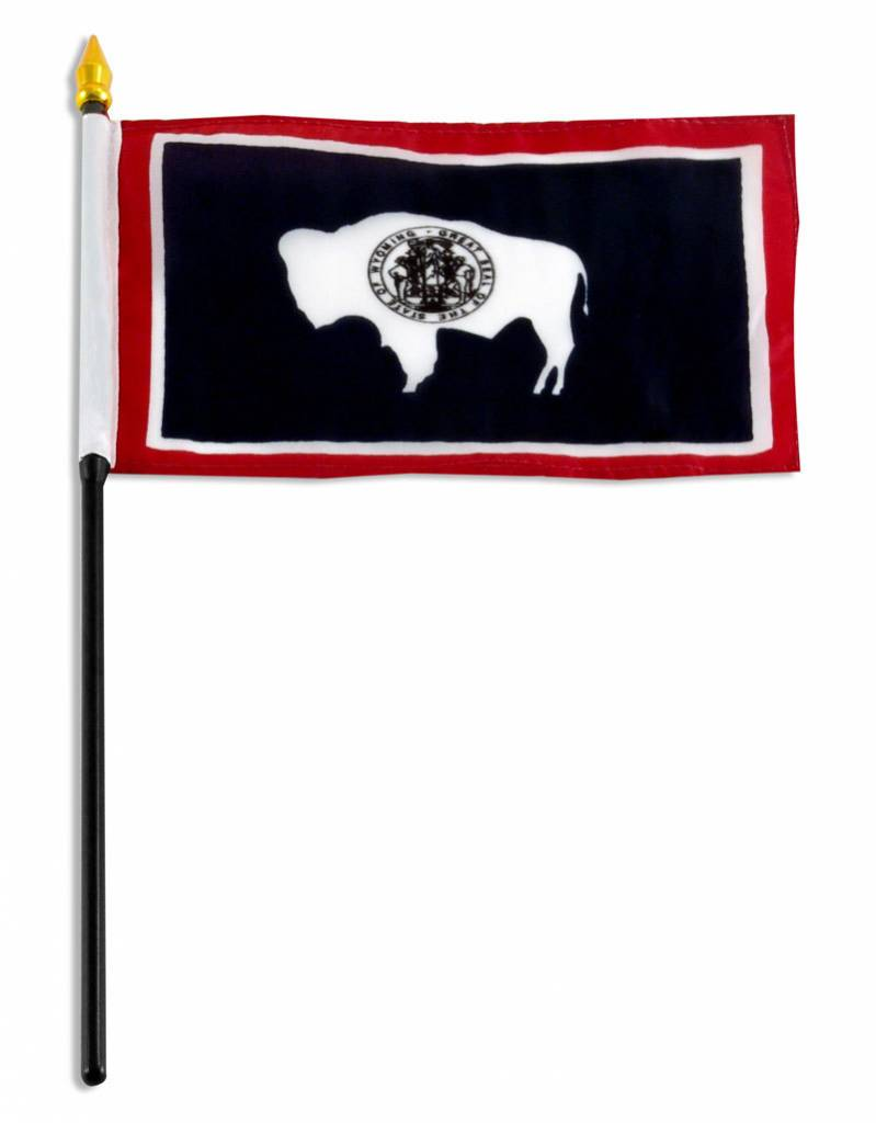 "Online Stores Stick Flag 4""x6"" - Wyoming"
