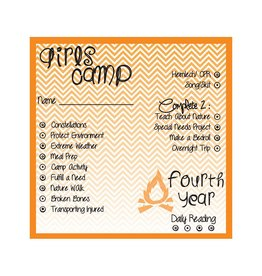 Popcorn Tree Girls Camp Punch Cards - 4th Year, 6ct