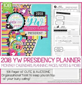 My Computer is My Canvas 2018 Young Women Presidency Planner