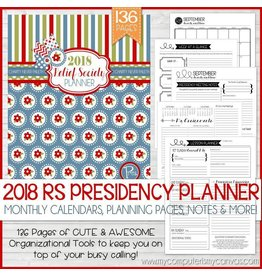 My Computer is My Canvas 2018 Relief Society Presidency Planner