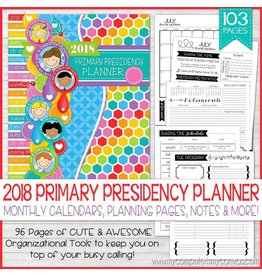 My Computer is My Canvas 2018 Primary Presidency Planner, Spiral Bound