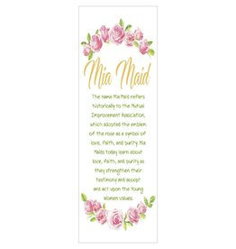 Popcorn Tree Mia Maid Bookmarks (Illustration), 6ct