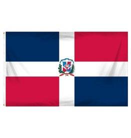 Popcorn Tree Flag - Dominican Republic 3'x5'