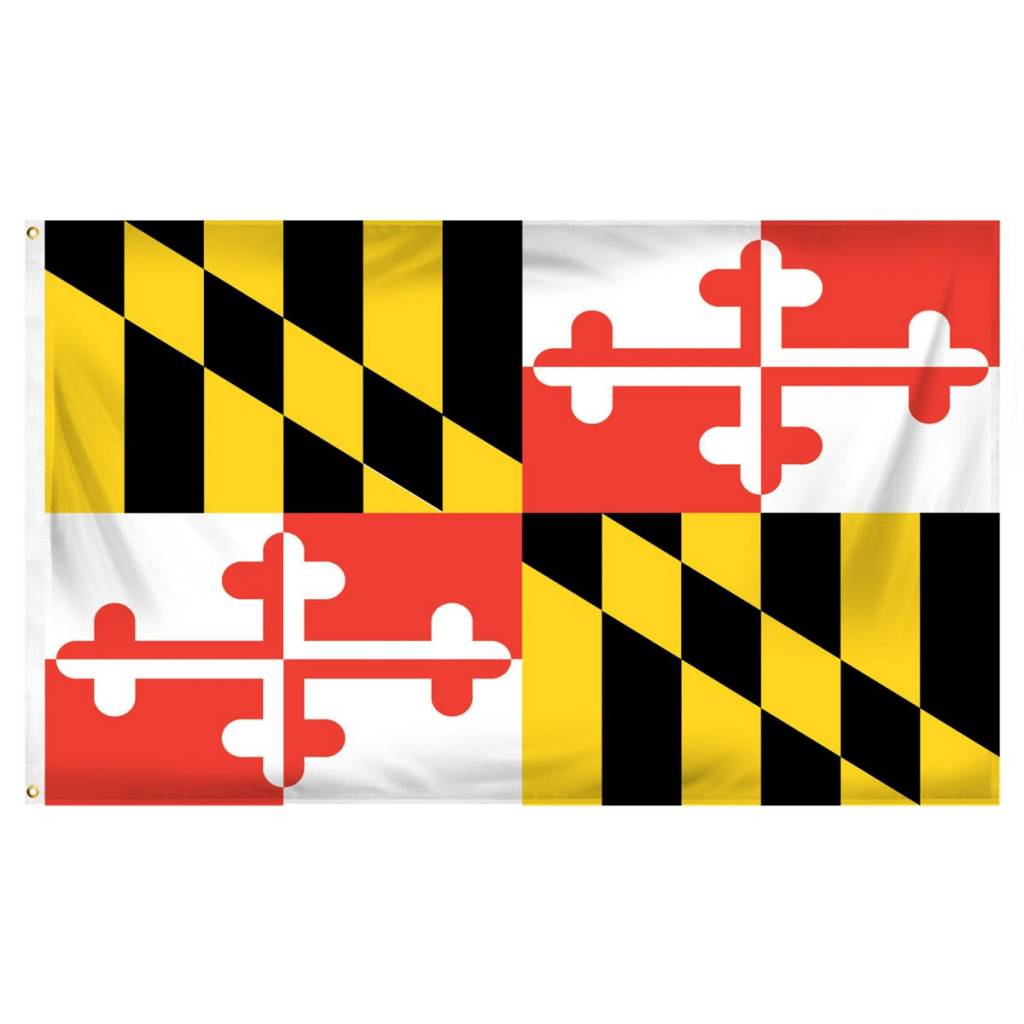 Popcorn Tree Flag - Maryland 3'x5'