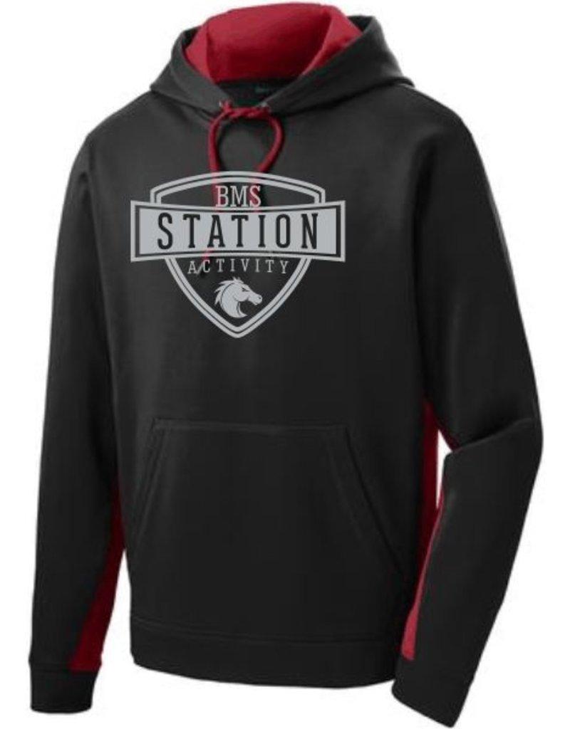 #109B Colorblock Performance Sweatshirt - Station SpiritX