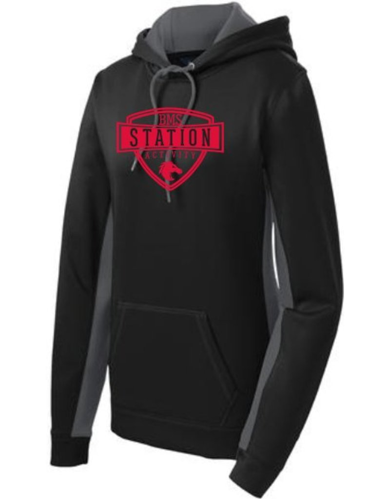 #309 Ladies Colorblock Performance Hoodie - Station SpiritX