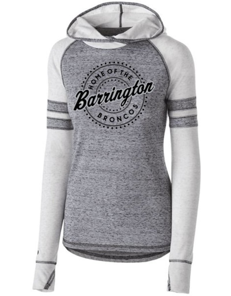 #354 Ladies Advocate Vintage Hoodie - Barrington Broncos