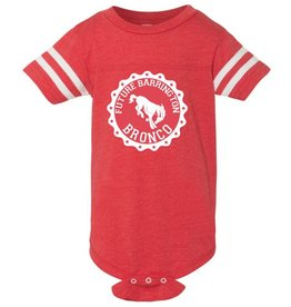 #631 Infant Vintage Football Onesie - Barrington Broncos