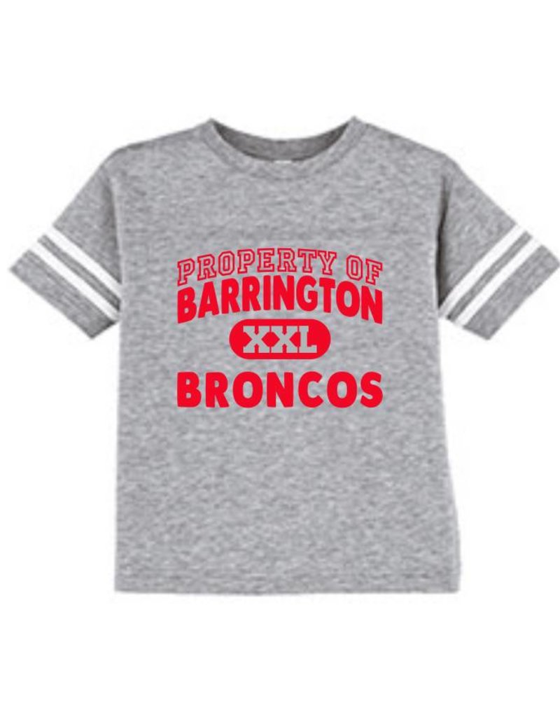 #632 Toddler Vintage Football Tee - Barrington Broncos