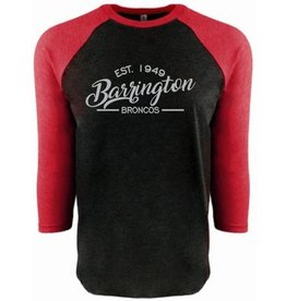 #12 Raglan Triblend T-Shirt with 3/4 Sleeve - Barrington Broncos