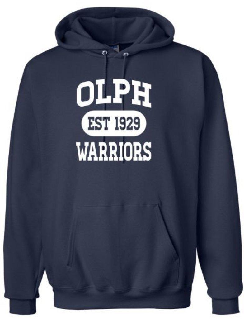 #103 Heavyweight Cotton Hooded Sweatshirt - OLPH Alumni