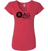 #328 Ladies Triblend V-Neck Tee - BALL4Training