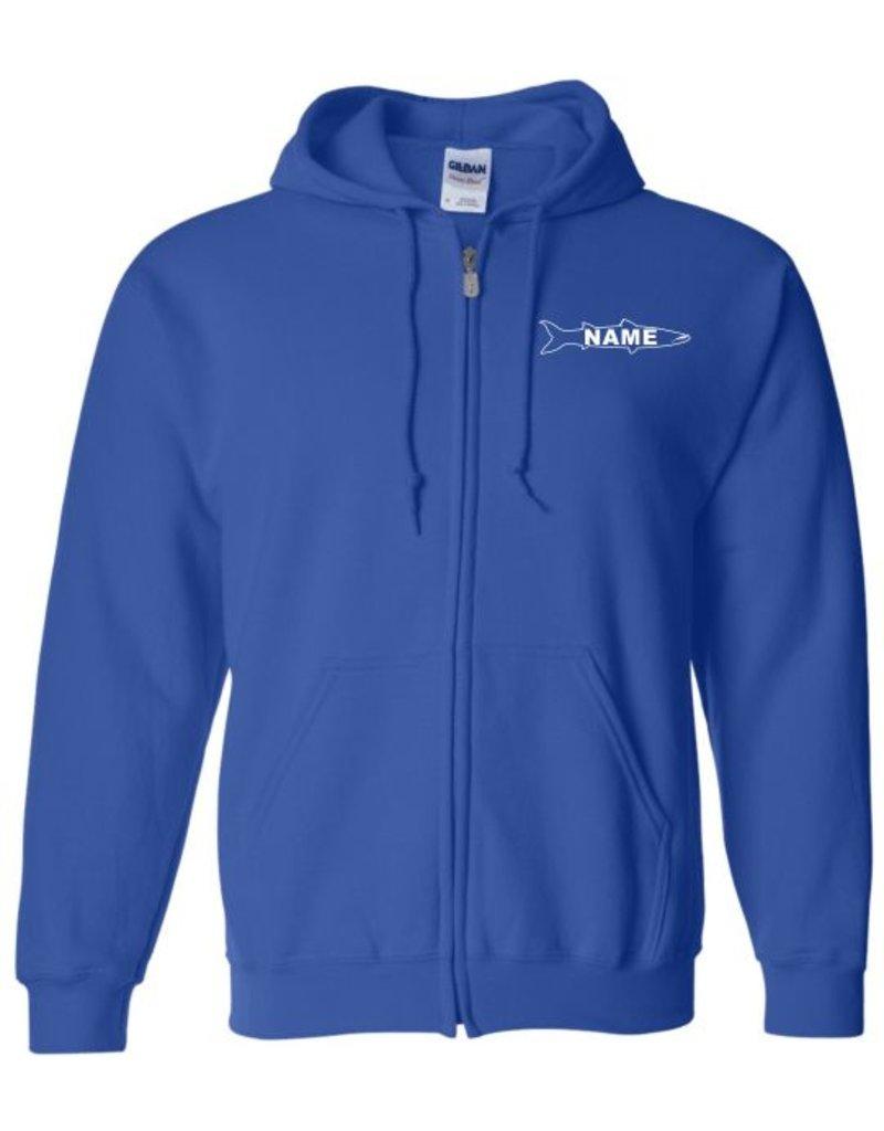 #100 Full Zip Hooded Sweatshirt - Huntington Swim Team