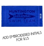 Terry Town #405 King Sized Beach Towel - Huntington Swim Team