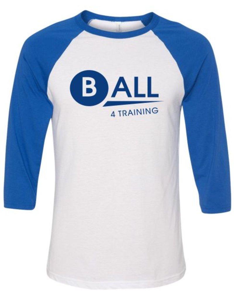 Bella + Canvas #27B Three-Quarter Sleeve Baseball T-Shirt - BALL4Training