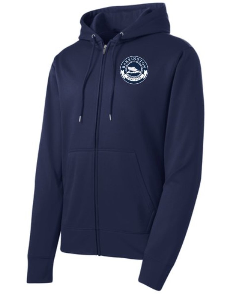 #238 Sport-Wick Fleece Full Zip Hooded Jacket - Barrington Boat Club