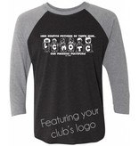 #12 Raglan Triblend T-Shirt with 3/4 Sleeve - Mothers of Multiples - Pick Your Logo