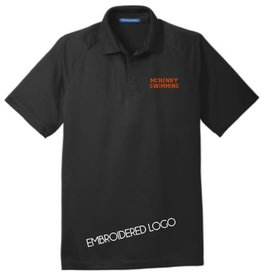 #564 Crossover Raglan Polo - McHenry Swimming