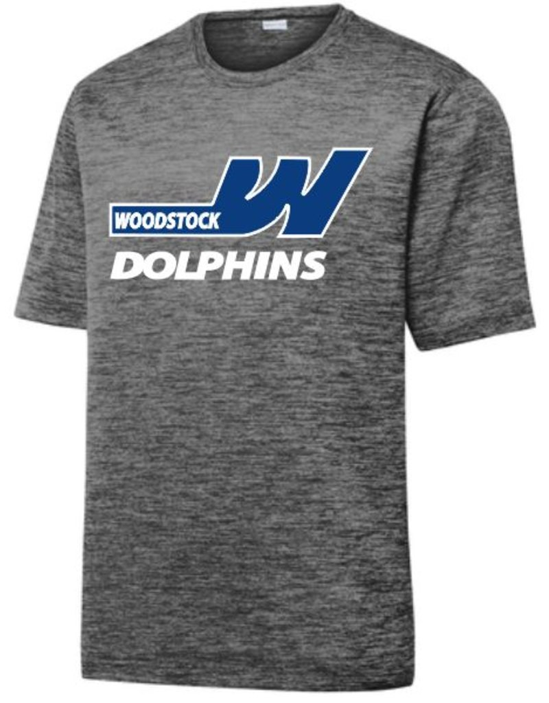 #42 Electric Heather Performance Shirt- Woodstock Swim