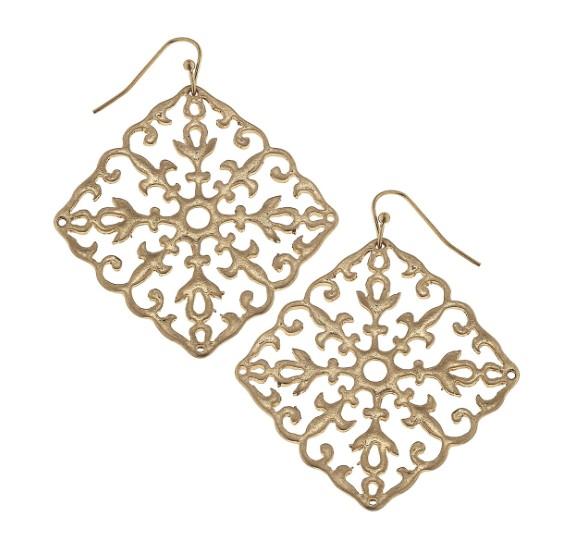 Canvas Jewelry Filigree Earrings Diamond