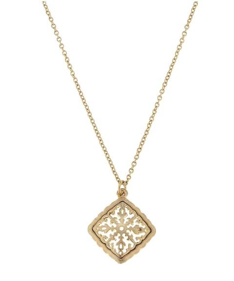 Canvas jewelry diamond filigree pendant necklace rochelles boutique canvas jewelry diamond filigree pendant necklace aloadofball Image collections