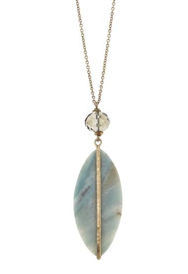 canvas jewelry lg teardrop gemstone necklace 24