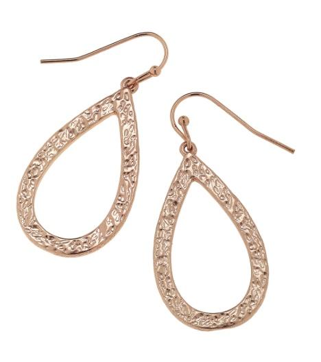 Canvas Jewelry Hammered Teardrop Earrings