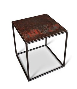 TEVIS TABLE 20X20X22 RUST GALVANIZ
