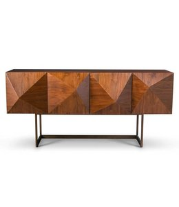 CUBE BUFFET LIGHT WALNUT W BR