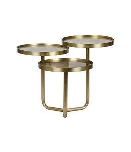 TRE METAL TABLE  W/BRASS