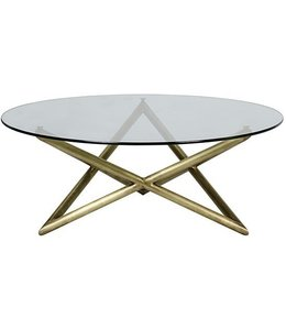 JACA COFFEE TABLE BRASS GLASS