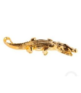 CROCODILE ELECTROPLATED GOLD
