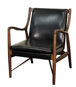 HARDY BONDED LEATHER ARM CHAIR